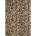 Hand-tufted Tobacco Brown Wool Rug (8&#39; x 10&#39;)