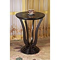 Espresso Wooden Round Stand End Table