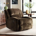 ETHAN HOME Bollington Chocolate Champion Microfiber Recliner Chair