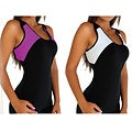 Fajate Women&#39;s &#39;Sol&#39; Racer Back Fitness Tank