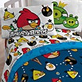 Angry Birds &#39;Stop the Madness&#39; Twin-size 4-piece Bed in a Bag with Sheet Set