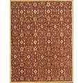 Alliyah Handmade Burgundy New Zealand Blend Wool Rug (9' x 12')