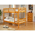 Wave Twin / Twin Bunk Bed in Honey