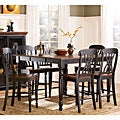 ETHAN HOME Mackenzie 7-piece Country Black Dining Table Set