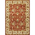 Alliyah Handmade Red Wool Rug (8&#39; x 10&#39;)