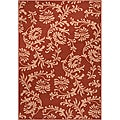 Milan Russet Floral Indoor/Outdoor Rug (3'6 x 5'6)