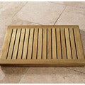 "Spa Indonesian 24"" Teak Wood Bath Mat"