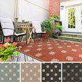 Meticulously Woven Jenna Contemporary Floral Indoor/Outdoor Area Rug (6' x 9')
