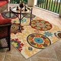 Indoor/ Outdoor Promise Fahri Beige Geometric Rug (7'8 x 10'10)