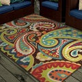 Indoor/ Outdoor Promise Monteray Paisley Multi-colored Rug (7'8 x 10'10)