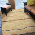Indoor/ Outdoor Promise Collection Lourdes White Olefin Indoor/Outdoor Area Rug (7'8
