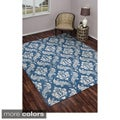 Rizzy Home Damask Pattern Wool Accent Rug Collection (8' x 10')