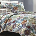Mizone Asha 4-piece Paisley Polyester Patterned Microfiber Quilt Set