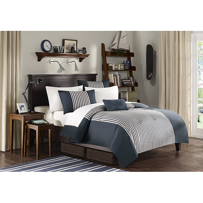 Mi Zone Sean Black 4-piece Comforter Set