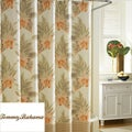 Tommy Bahama Wicker Floral Cotton Shower Curtain
