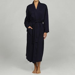 Women&#39;s Navy Organic Cotton Bathrobe