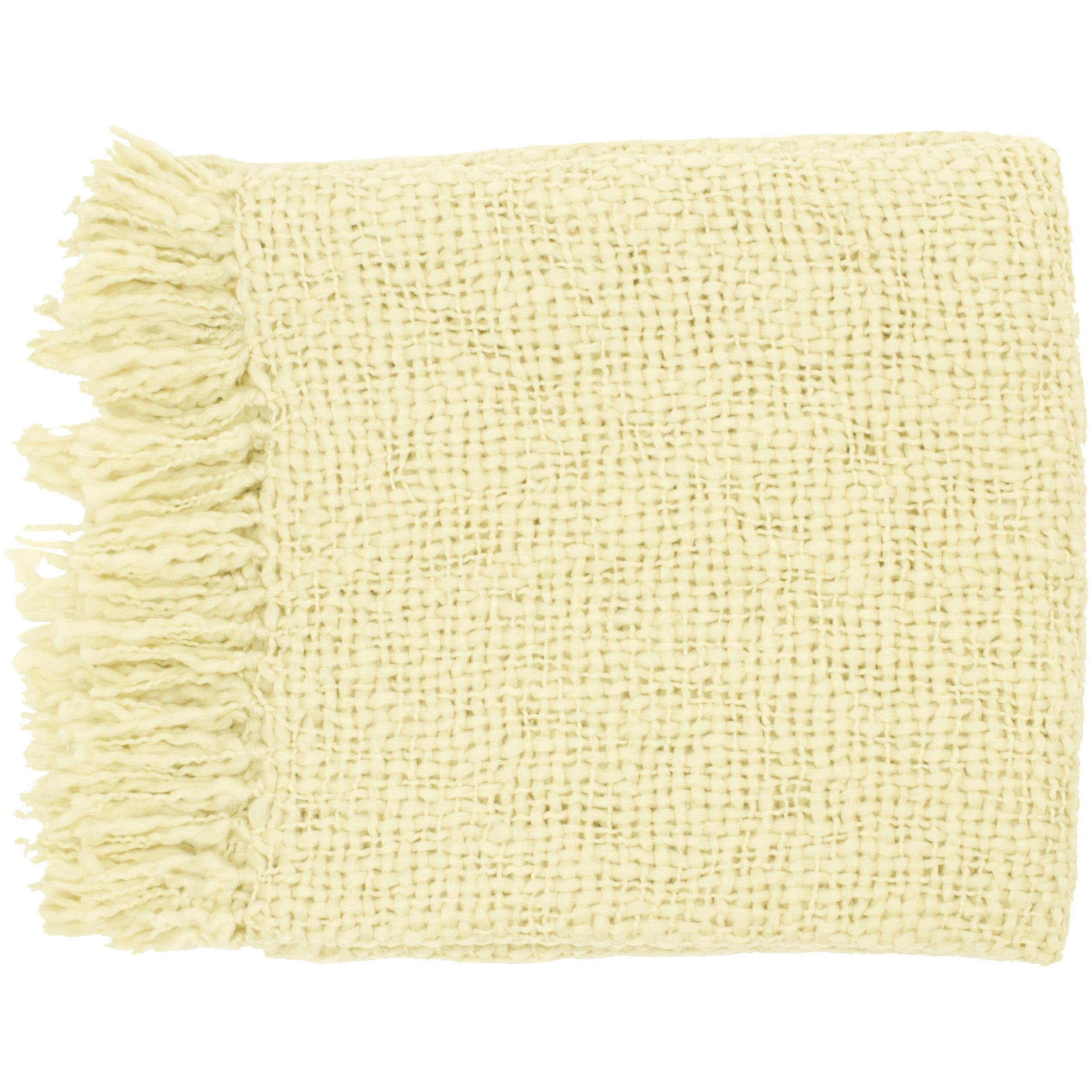 Woven Carnegie Acrylic and Wool Throw Blanket