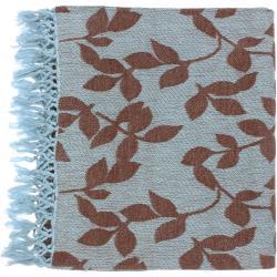 Woven Mottled Cotton Throw Blanket