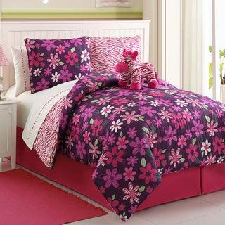 Zebra Reversible 4-piece Comforter Set