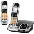 Uniden D1780-2BT Cordless Phone - 1.90 GHz - DECT 6.0 - Black, Silver