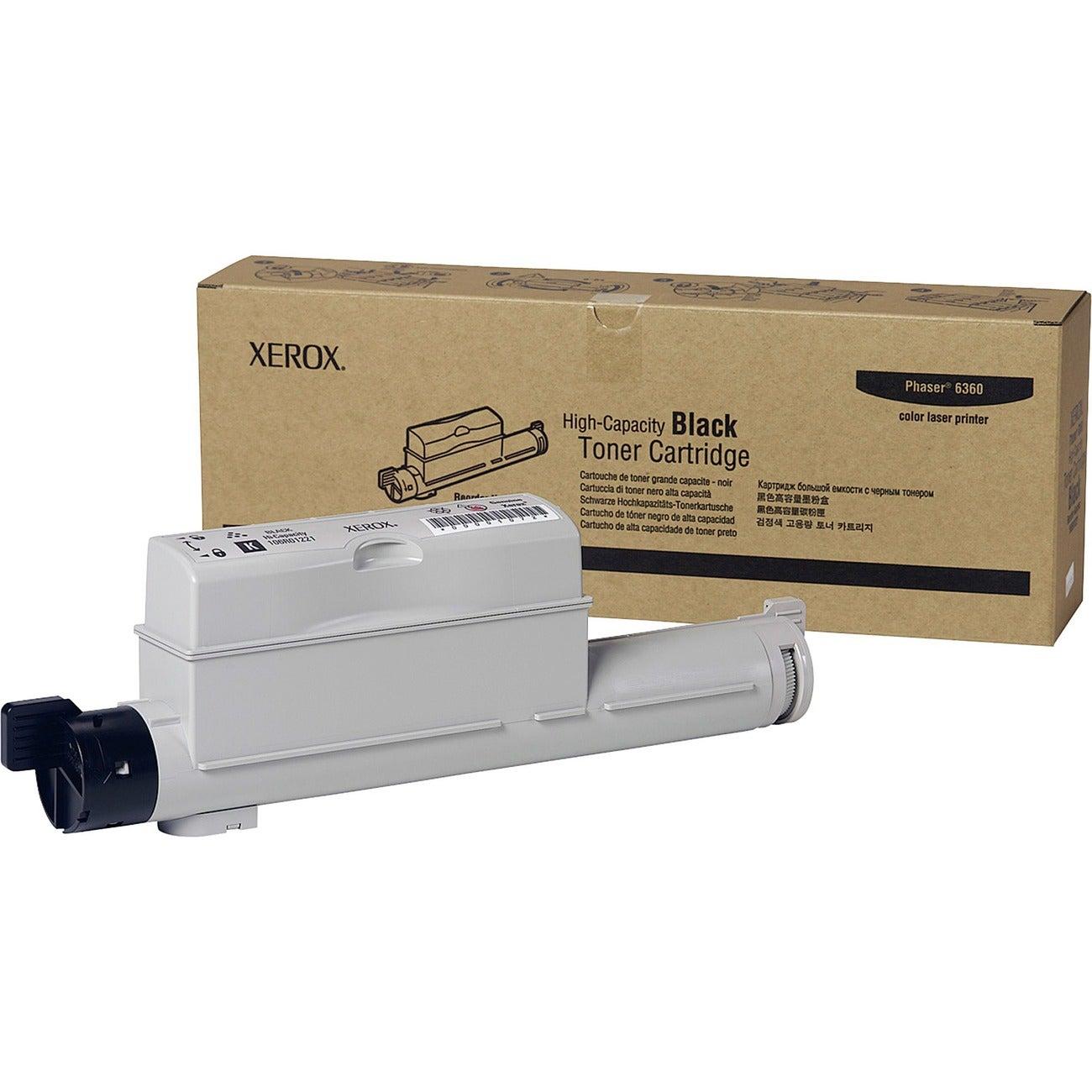 Xerox High Capacity Black Toner Cartridge For Phaser 6360 Printer