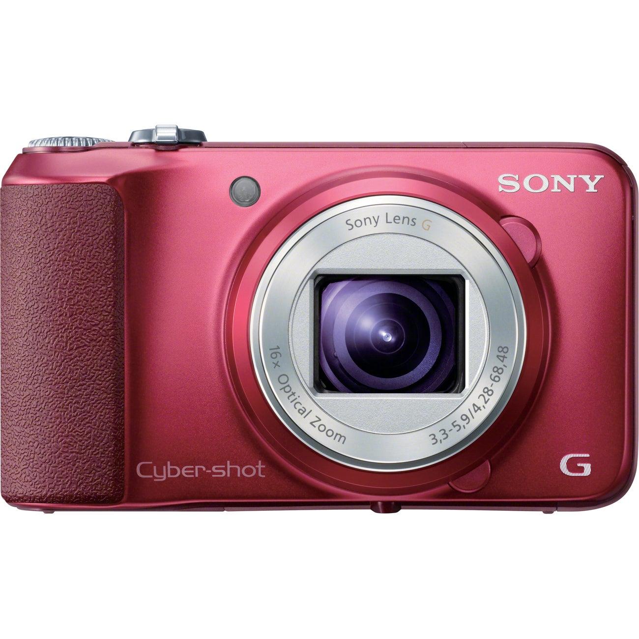 Sony Cyber-shot DSC-H90 16.1MP Red Digital Camera