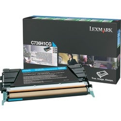 Lexmark High Yield Return Program Toner Cartridge - Cyan