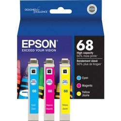 Epson No. 68 Tri Color Ink Cartridge