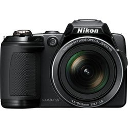 Nikon Coolpix L120 14MP Black Digital Camera (Refurbished)