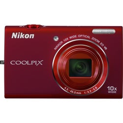 Nikon Coolpix S6200 16MP Red Digital Camera