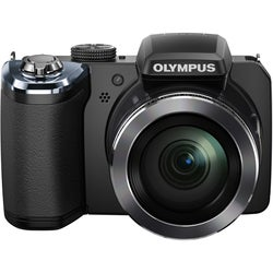 Olympus Traveller SP-820UZ iHS 14MP Black Digital Camera