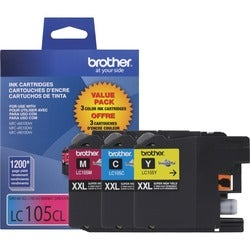 Brother Innobella LC1053PKS Tri-pack Ink Cartridge - Cyan, Magenta, Y