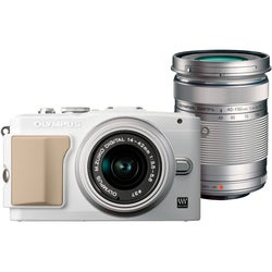 Olympus PEN E-PL5 16.1MP White Mirrorless Digital SLR Camera with 14-42mm Lens