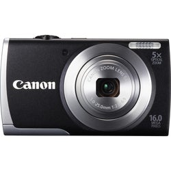 Canon PowerShot A2600 16MP Black Digital Camera