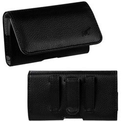 INSTEN Black/ Grey Textured Horizontal Pouch 2901 for Apple iPhone 5