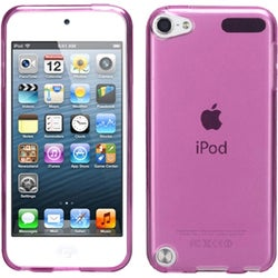 INSTEN T-Hot Pink Candy Skin iPod Case Cover for Apple iPod Touch 5th Generation