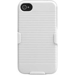 INSTEN Solid Ivory White Hybrid Holster for Apple iPhone 4S/ 4