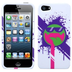 INSTEN Hipster Tripster/ All Smiles Phone Case Cover for Apple iPhone 5
