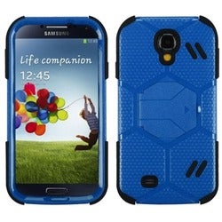 INSTEN Natural Blue/ Black Beehive Phone Case Cover for Samsung Galaxy S4