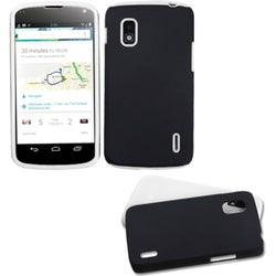 INSTEN Black/ White Fusion Phone Case Cover for LG E960 Nexus 4