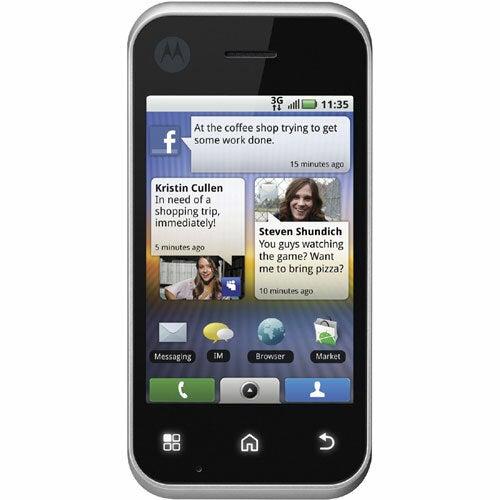 Motorola BACKFLIP MB300 Smartphone - Wi-Fi - Flip - Platinum Silver