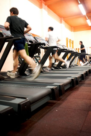 Treadmill ready to be used