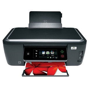 Inkjet printer producing a photo of a fish