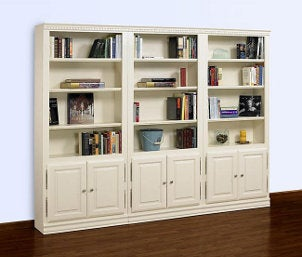Decorated book shelves