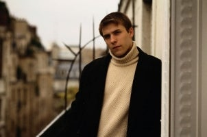 Stylish man wearing men's winter apparel