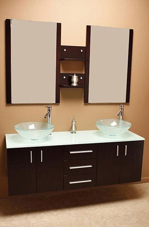 Decorating with a Contemporary Italian Bathroom Vanity Set  Overstock ...