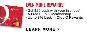 Club O Rewards MasterCard