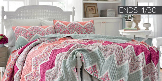 Ends 04/30 - Up to 55% off + Extra 10% off Select Bedding & Bath*