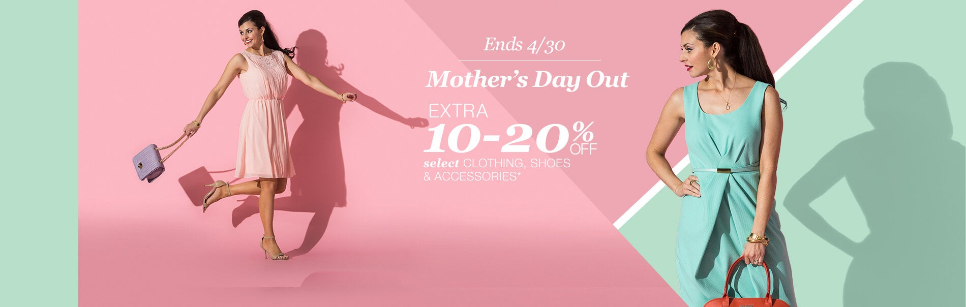 Ends 4/30. Extra 10-20% off Select Clothing, Shoes & Accessories*