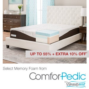 Up to 55% + Extra 10% Off* Select Memory Foam from ComforPedic® from Beautyrest™